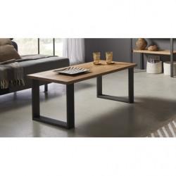 Mesa televisión, mueble tv salón diseño vintage, cajón y estante, color blanco. Medidas 100 cm x 40 cm x 30 cm