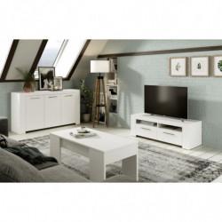 Canapé Abatible de madera de gran capacidad tapa 3D transpirable color blanco vintage